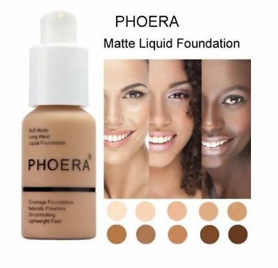 Perfect Beauty Phoera 30ml Face Liquid Foundation Base Soft Matte Long Wear Oil