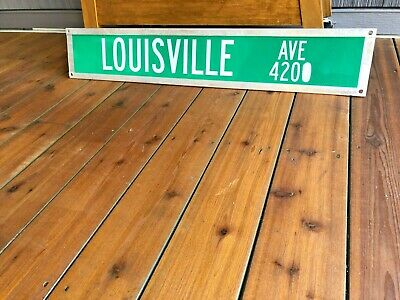 Vintage Louisville Double Sided Retired Street Sign Huge Reflective 420 4200 Ky