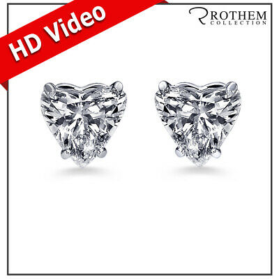 Womens Anniversary 2.12 CT SI1 Heart Diamond Stud Earrings White Gold 49004164