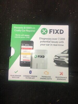 FIXD Bluetooth OBD II Gen 2 Active Car Health Monitor