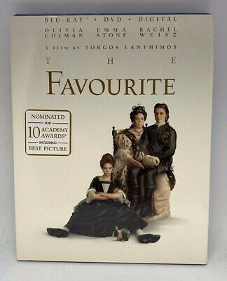 The Favourite (Blu-Ray + DVD + Digital) BRAND NEW w/Slipcover