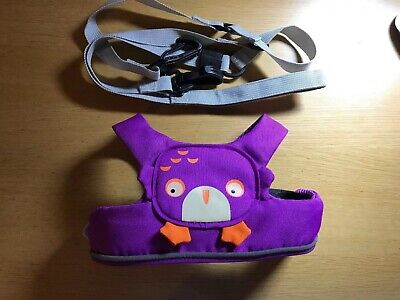 Trunki ToddlePak Baby Toddler Reins Harness Purple Ollie Owl - Barely Used