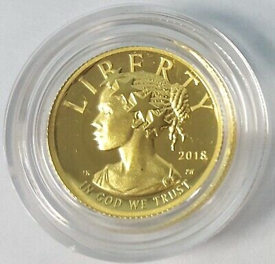2018 American Liberty One-Tenth Ounce Gold Proof Coin Box & COA $10 Coin 1/10 oz