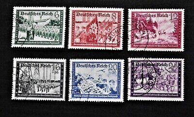 Germany - 1941 THIRD REICH Charity Set of 6 - USED