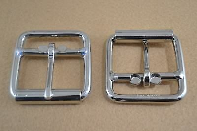 "Roller Buckle - 1 3/4"" Nickle Plated - Double Bar - Pack of 16 (F302)"