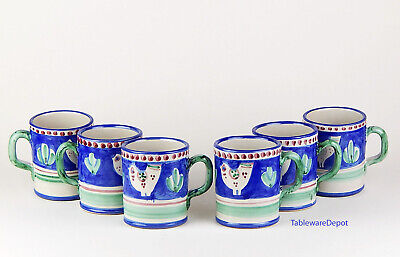 10 oz. Mug(s), MINT UNUSED! Vietri, Campagna Chicken Blue, Solimene, Italy