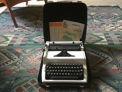 Vintage Optima typewriter in case, made in Germany