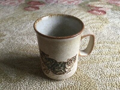 Dunoon Ceramics stoneware mug, made in Scotland cats & kittens