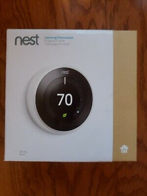 Nest 3rd Gen Learning Programmable Thermostat - White Steel (T3007ES)