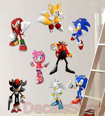 Set 8pcs Characters Removable Vinyl Wall Decal Sticker Decor Art FREE SHIPPING