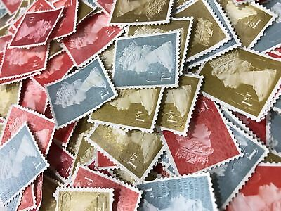 100 1st Class First Unfranked Stamps Off Paper No Gum Mixed Security Cheapest!!!