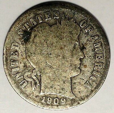 1909-P 10C Barber Dime 19oht0104  90% Silver Only 50 Cents for Shipping