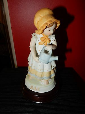 Vintage Porcelain Holly Hobbie Designers Collection Birthday June With Stand