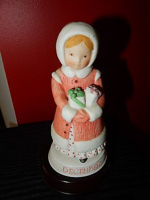 Vintage Holly Hobbie Designers Collection Birthday December With Its Stand