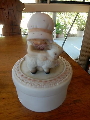 Vintage Holly Hobbie Girl Round Shaped Trinket Box