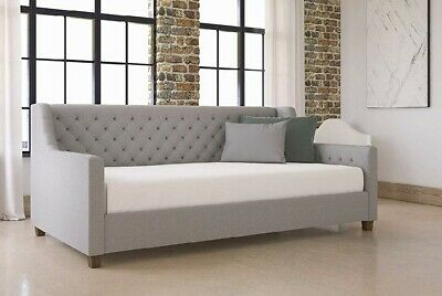 Fantastic Unique Modern Daybed Tuft Linen Beds Office Guest Room Sofa Squirreltailoven Fun Painted Chair Ideas Images Squirreltailovenorg
