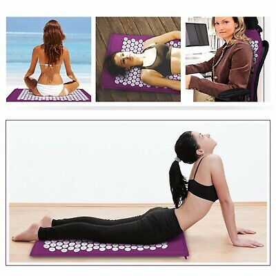 Acupressure Massage Meditation Yoga Mat Relax Stress Pain Relief For Back Neck
