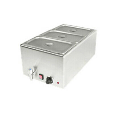 BM150-3B(CE) 3 x GN1/3 Pan STAINLESS STEEL COMMERCIAL FOOD WARMER / BAIN MARIE