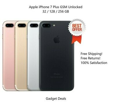 Apple iPhone 7 Plus (Unlocked) -32/128/256 GB -Silver,Rose,Gold,Black,Red 4G LTE