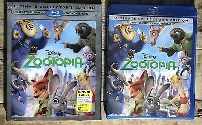 "Zootopia Ultimate Collector's Edition 3D/Blu-ray/DVD/Digital HD ""BRAND NEW"""