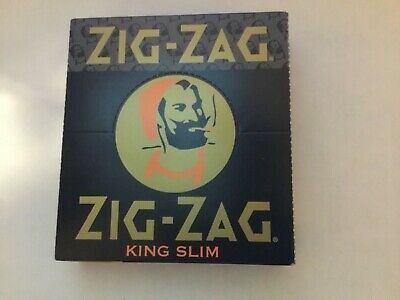 Zig-Zag king slim Rolling Papers - 1 Box 25 Booklets