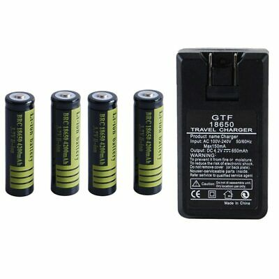 Black 1 Pcs  1 Pcs 3.7 V 18650 4200 mAh Li-ion Rechargeable Battery for Torch
