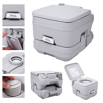 2.8 Gallon 10L Portable Toilet PottyTravel Camping Outdoor/Indoor Commode Flush