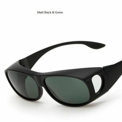 2188ddb5c55 Unisex Polarized Fit Over Sunglasses Medium Wraparound Glasses Black Blue  Brown