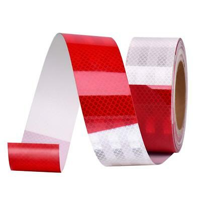 """Conspicuity Tape DOT-C2 Approved Reflective Trailer Red White 2""""x100' -1 Roll"""