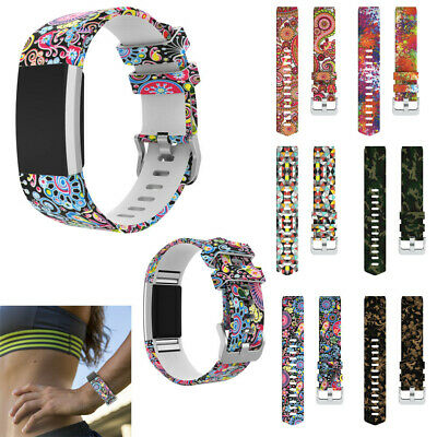 Sport Silicone Replacement Wristband Wrist Strap For Fitbit Charge 2