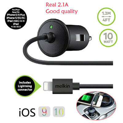 2.1A 10W Fast Car Charger & USB Charge Sync Cable For iphone Xs max XR X 8 7 6S
