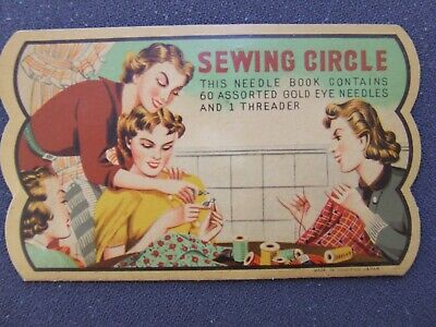 """Vintage Needle Case Collectable """"Sewing Circle"""""""