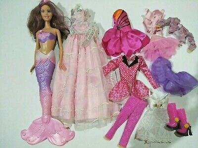 Barbie mermaid doll,  clothes and accessories bulk lot