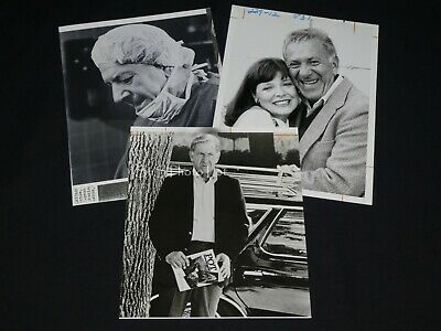 "3 x TV Press Kit Photos ~ 8x10 ""Quincy, M.E."" Jack Klugman Anita Gillette 1983"
