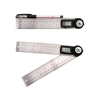 Stainless Steel Digital Angle Protractor Goniometer 200mm Ruler Angle Gauge DFD