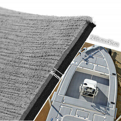 "17.7""x94"" EVA Foam Gray Teak Mat Marine Boat Deck Flooring Carpet Self-Adhesive"