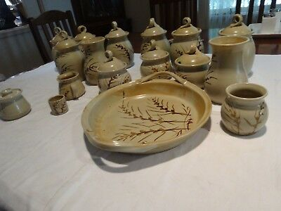 Retro JAREE POTTERY large selection lidded canisters etc.Made in Australia.