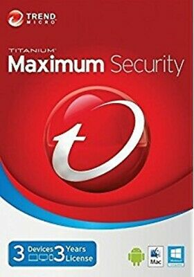 Trend Micro Maximum Security 2019 (3 Years for 3 Windows, Mac, Android Devices)