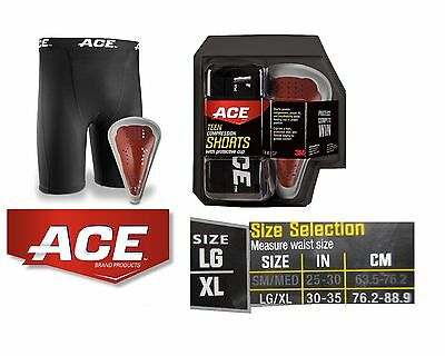 ACE Adult Compression Shorts with Protective Cup LG//XL Free Shipping!!