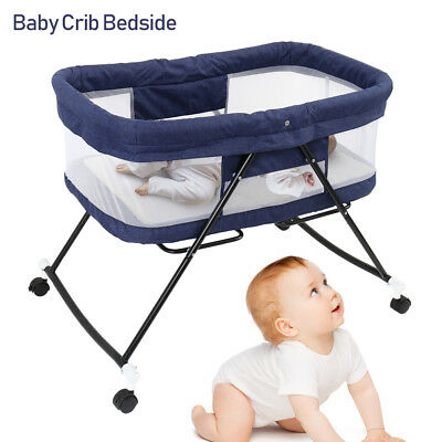 New Deluxe Baby Portable Travel Cot Portacot Playpen Crib Bed Bassinet