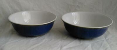 Pair of Denby Imperial Blue Cereal Bowls -6 1/2 inch