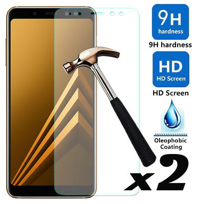 For Samsung Galaxy A8 / Plus /J8 2018 9H Tempered Glass Film Screen Protector BJ