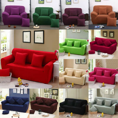 Stretch Sofa Covers 1 2 3 4 Seater Removable Protector Couch Slipcover Washable