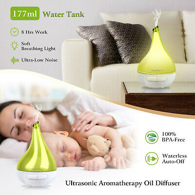 177mL LED Light Ultrasonic Aroma Diffuser Humidifier Aromatherapy Essential Oil