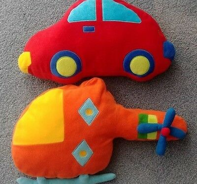 Cute Nursery Decorative Pillows - Car & Helicopter