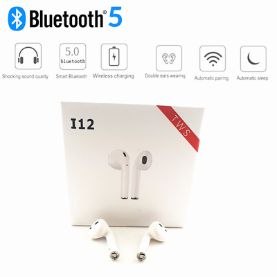 i12 TWS V2 Touch Control Bluetooth 5.0 Wireless Earphones Earbuds Headset 2019