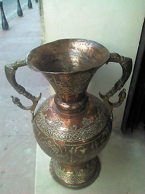 ANTIQUE OLD ORIGINAL OTTOMAN AMAZING ISLAMIC VASE 19thC