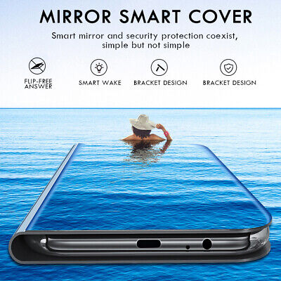 Luxury Plating Smart Mirror Case For Xiaomi 9/SE Redmi Note 7 Flip Leather Cover