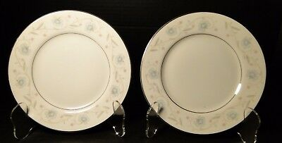 "Fine China of Japan English Garden 1221 Bread Plates 6 1/4"" (Set of 2) NICE"