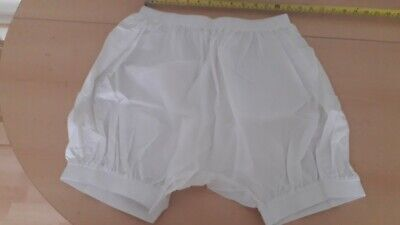 "Adult Baby White Plastic Pants Shorts. Size Xl  29""-35"" Waist"